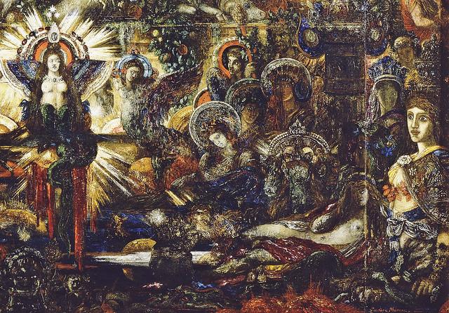 Gustave Moreau - Jupiter und Semele, detail unten rechts 24a