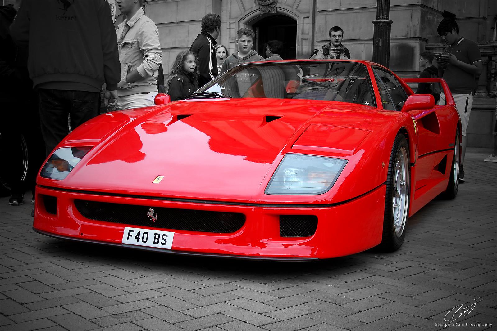Ferrari F40 in a Crowd