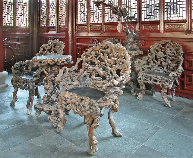Le pavillon de la Tendresse dans le jardin Yu (Shanghai, Chine)