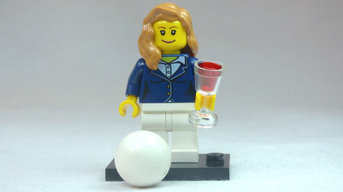 Brick Yourself Custom Lego Figure Smartly Dressed Volleyballer with Red Wine | by BrickManDan