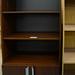 Ex demo tall dark bookcase E165