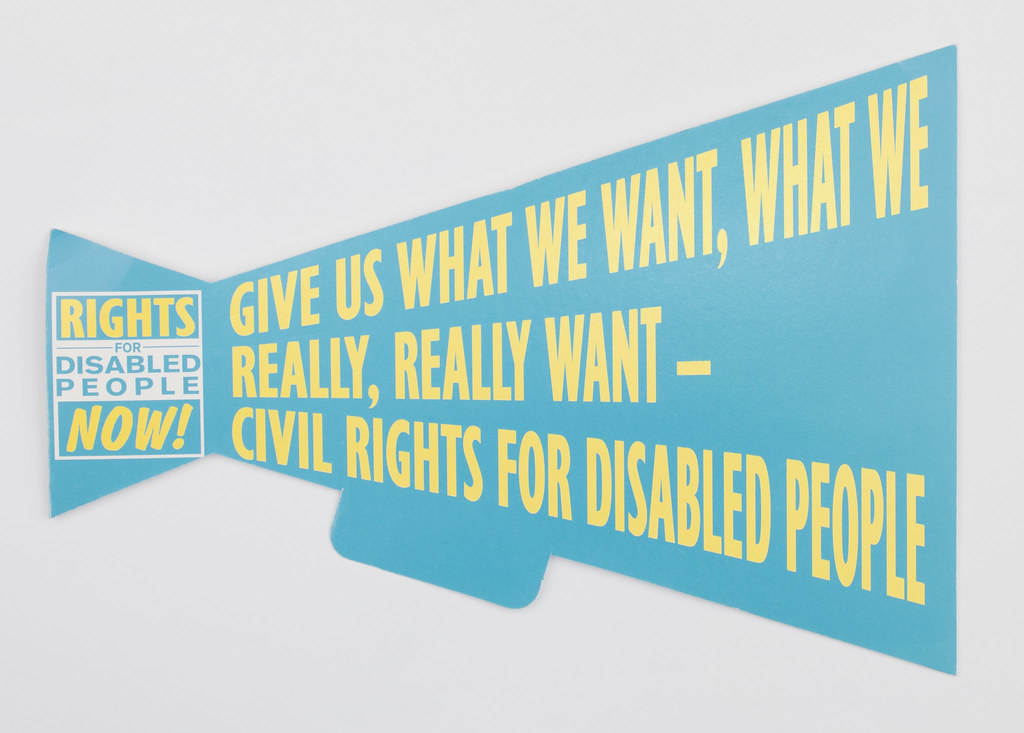 Civil Rights for Disabled People Protest Sign