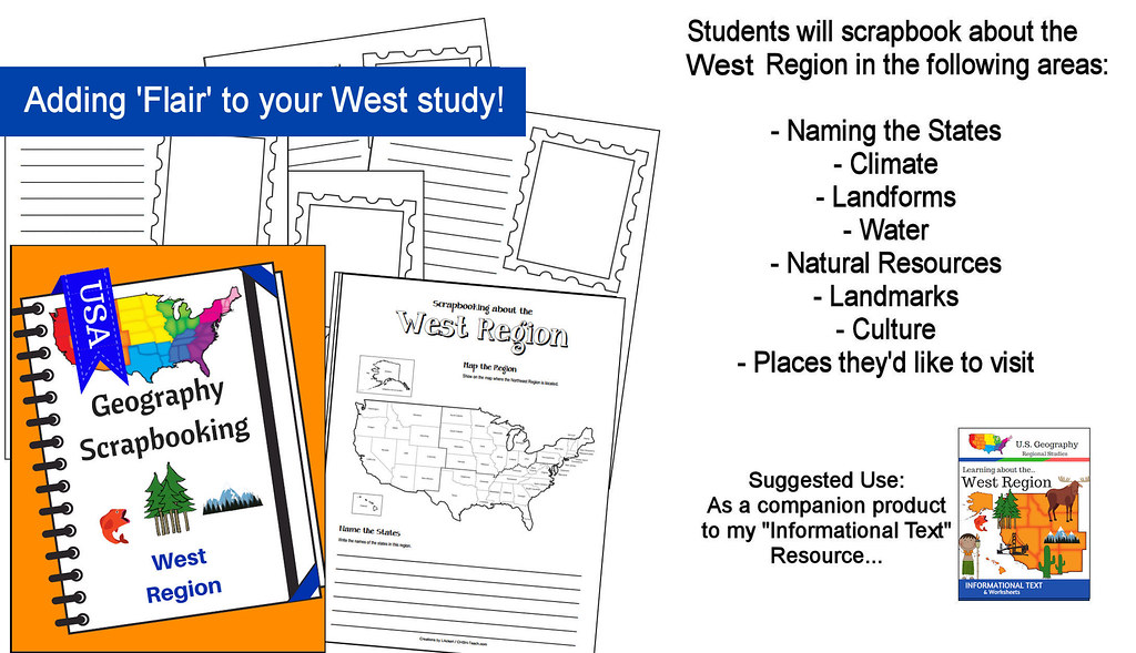 West Region Scrapbooking Pages - United States Geography ...