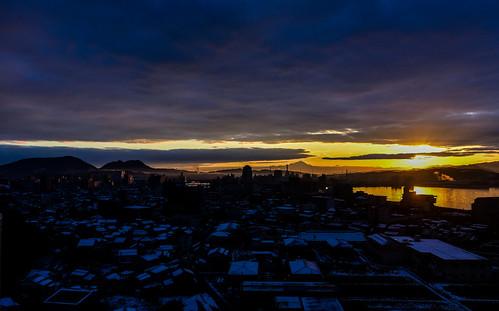 d750 nikon morning lakeshinji sanin dusk sunrise clouds 1635mm lens matsue 島根 松江 宍道湖 山陰