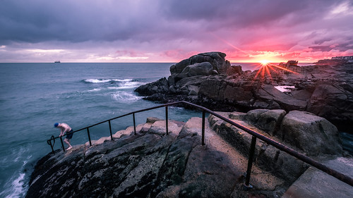 fortyfoot lines dunlaoghaire landscape 40foot ireland leading sea stairs sun man swim dublin cold seascape swimmer sunrise weather rocks countydublin ie onsale portfolio