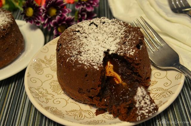 Peanut Butter Lava Cakes