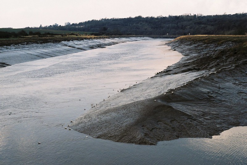The River Trym meets the Avon