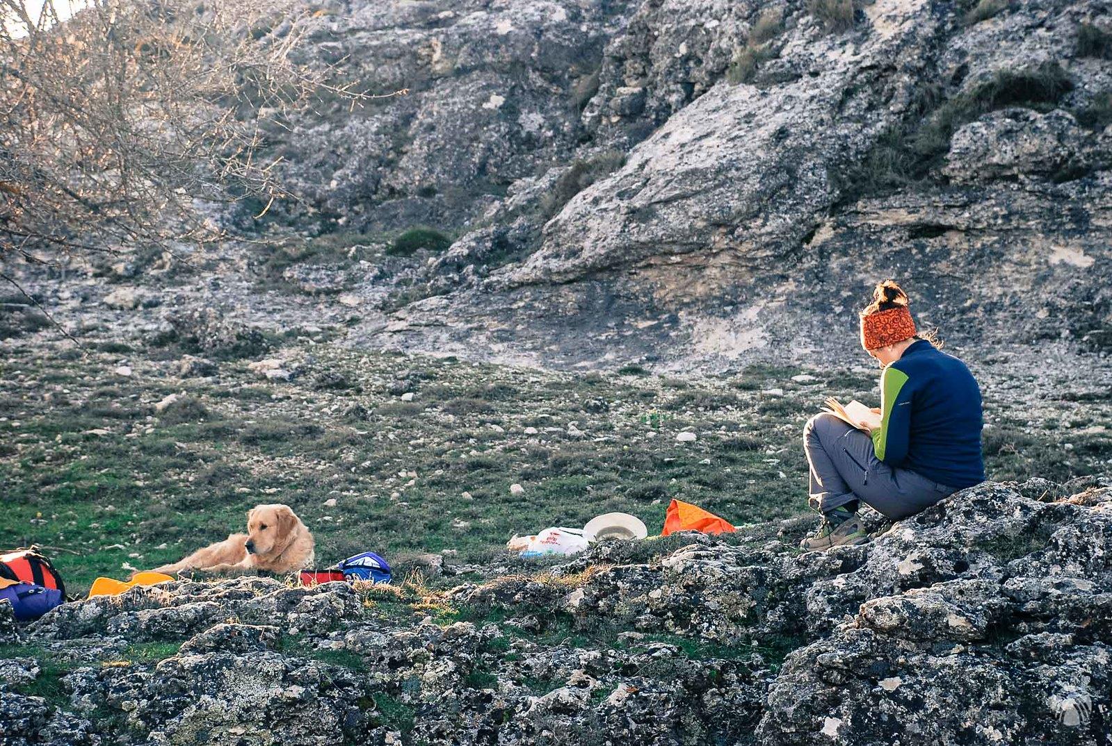 Campamento establecido: vamos a olvidarnos de las mochilas