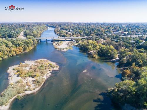 aerialview dji phantom4pro americanriver dreyerpicturescom drone fall landscape water sacramento california unitedstates us