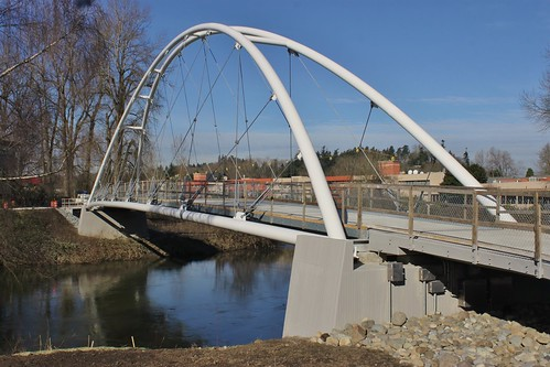 Green River pedestrian bridge in Southcenter