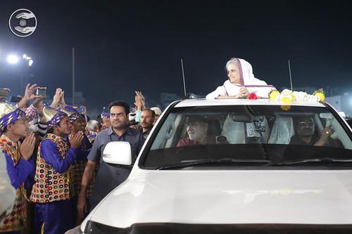 Arrival of Her Holiness Satguru Mata Ji in the Samagam Campus