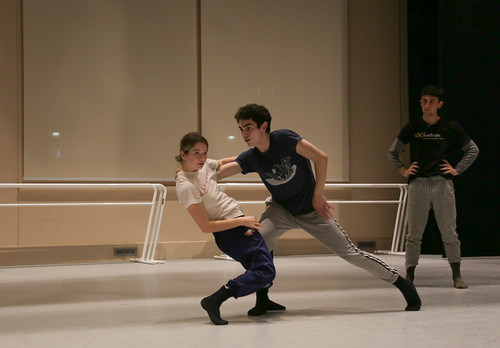 USC Kaufman students rehearse Sonya Tayeh's piece in GKIDC