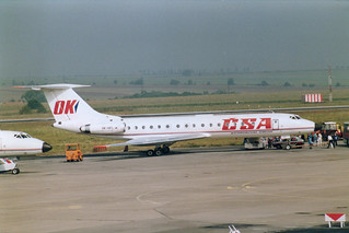 OK-HFL Tu134 @ Praha 15-09-1991