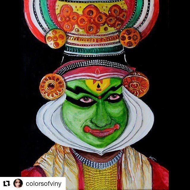 I Simply Love Drawing Kathakali Dancers No Amount Of Deta Flickr