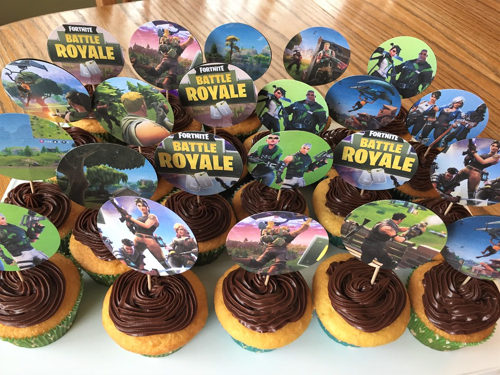 Fortnite Party Cupcakes Fortnite Cupcakes Janet Flickr