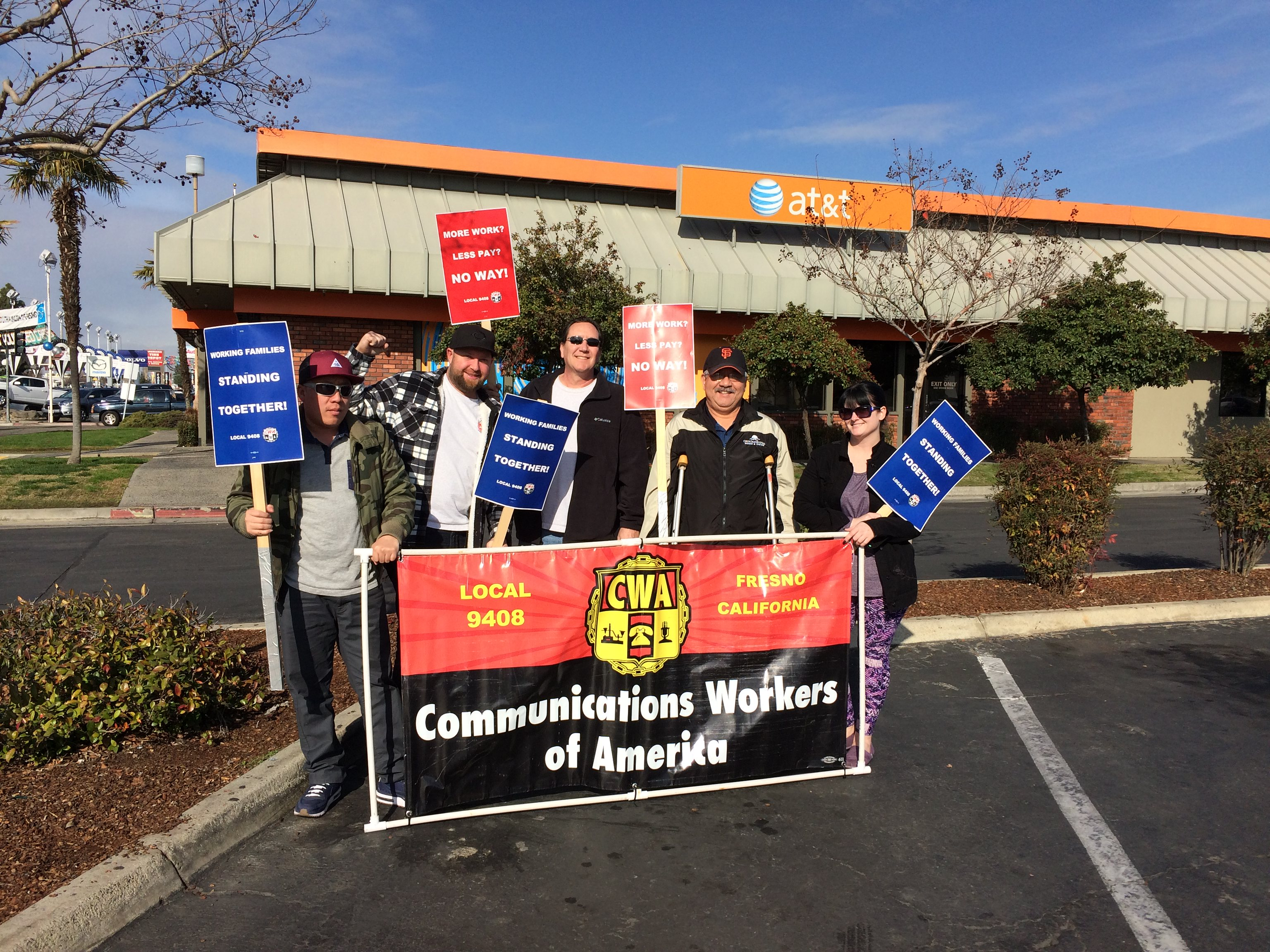 Local 9408 Stands up in Fresno, CA