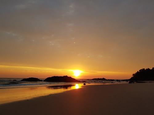 beach sunrise dawn water ocean sand