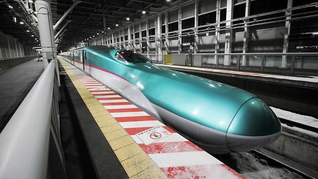 HOKKAIDO SHINKANSEN bullet train.