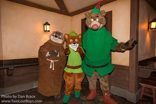 Meeting Robin Hood, Little John and Friar Tuck | by Disney Dan