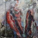 Kabinetsizung Triptychon 150x70 Acryl auf Leinen 2017