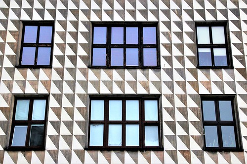 architecture geometry windows triangle lines abstract front building colourful symmetry 3dview fotoristin