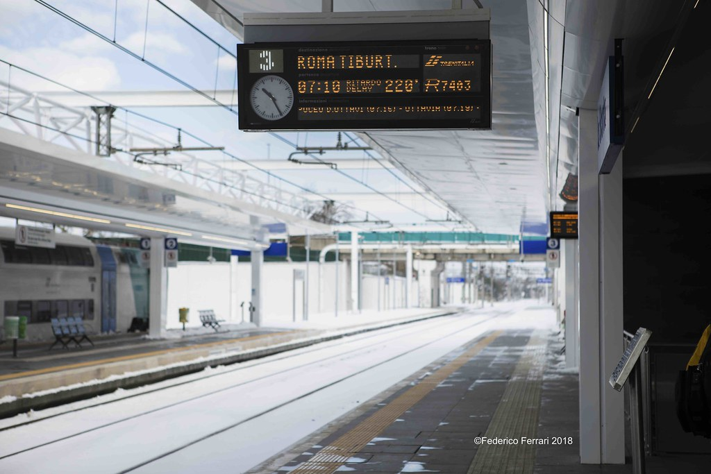 Stazione La storta innevata 2