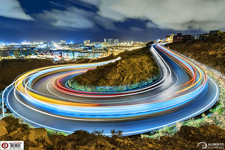 Disco Road (Using Livecomposite in an Olympus E-M1 Mark II) | by Alesfra