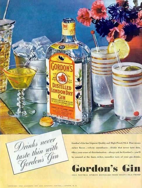 Gordon's Export Gin - 1937