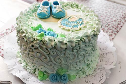 Torta tradicional con Fondant - Baby Shower