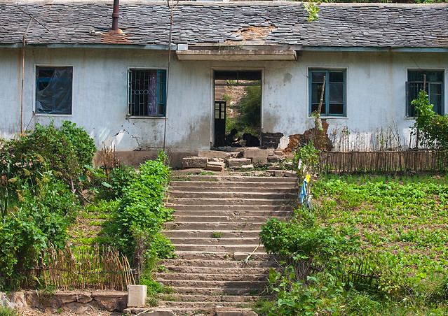 House in the countryside, North Hwanghae Province, Sariwon, North Korea