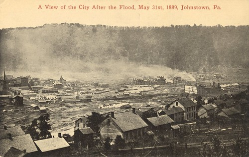 1889 johnstown flood disaster cityinruins postcard pennsylvania vintage