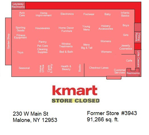Malone Kmart Map | Thanks to AFB for the store\'s number ...
