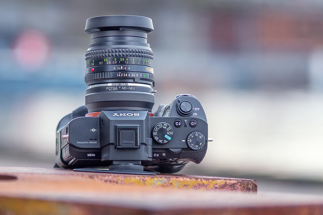 Minolta MD Rokkor 50mm ƒ/1.4 on SONY a7II by Minolta AF 70~210mm ƒ/4 'beercan' on SONY ⍺6500
