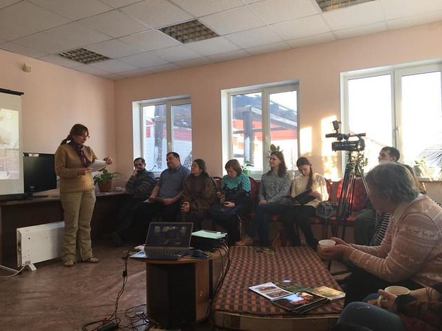 During the seminar, Nadezhda talking about the targers and history of natural history societies
