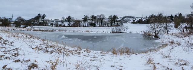 Lintmill Dam on Ice