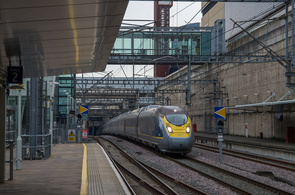 Image result for eurostar with javelin at speed