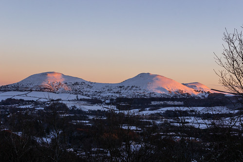 scottishborders landscape winter eildonhills