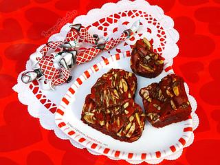 Crimson Nutella Brownies