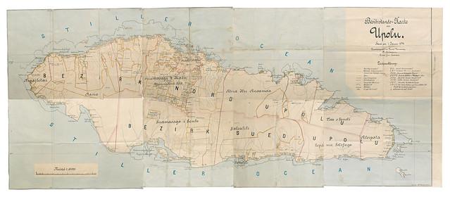 German Map of Samoa, 1914 - Archives New Zealand Te Rua Mahara o te Kāwanatanga