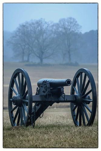 Foggy Morning at Chickamauga Battlefield