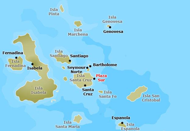 Mapa de las islas Galápagos