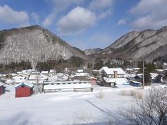 冬の中三依集落