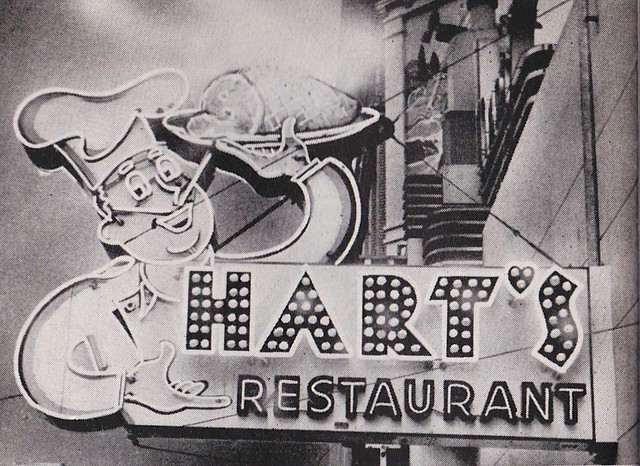 HART'S RESTAURANT - Sacramento, Calif. - animated sign with steaming ham by Electrical Products Corporation