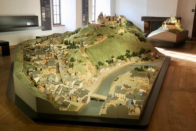 Clervaux-Musée des maquettes de châteaux-forts