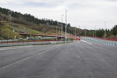 Entrada a la autopista desde el peaje de Uretamendi.