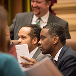 Minneapolis City Council Member Abdi Warsame, Jeremiah Ellison, and Steve Fletcher
