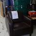 Brown club leather chair E70