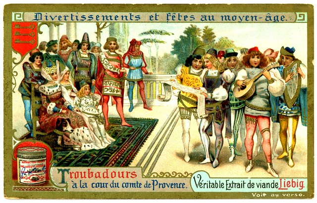 Liebig Tradecard S699 - Troubadours at Court