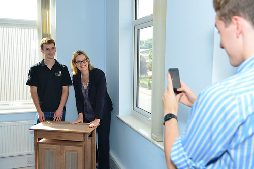 Amber Rudd MP meeting Ed Harringman- Cabinet Making | by WorldSkills UK