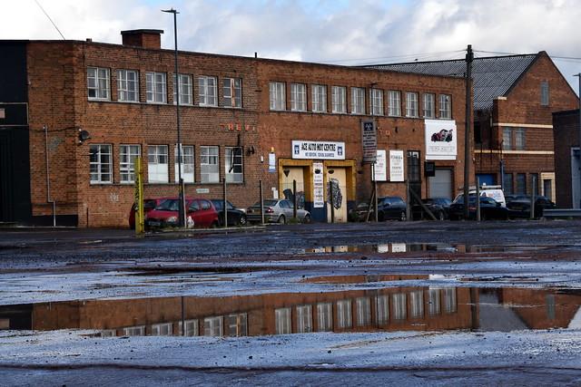 Water Puddel / Reflection, Birmingham.